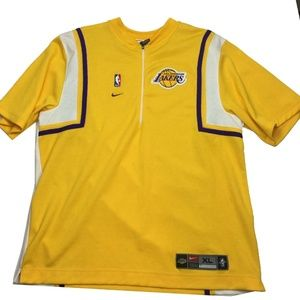 VTG Nike NBA Los Angeles Lakers 1/2 Zip Shirt XL